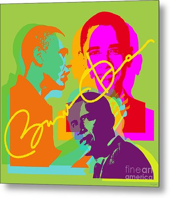 Obama Metal Print by Jean luc Comperat