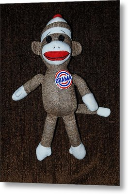 Obama Sock Monkey Metal Print by Rob Hans