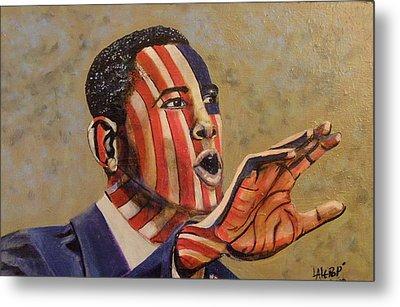 Obama...a State Of Mind Metal Print by James  Lalepop Becker