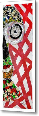 Metal Print featuring the tapestry - textile Obaoya by Apanaki Temitayo M