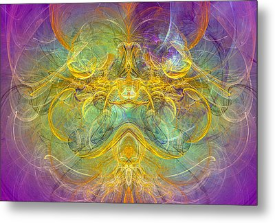 Obeisance To Nature - Spiritual Abstract Art Metal Print