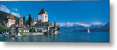 Oberhofen Castle W\ Thuner Lake Metal Print