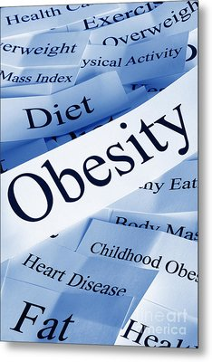 Obesity Concept Metal Print by Colin and Linda McKie