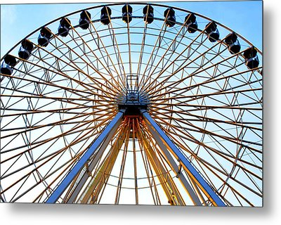 Observation Wheel Metal Print by Mary Beth Landis