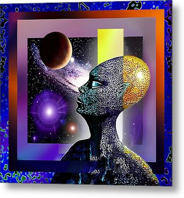 Observing The Cosmos Metal Print by Hartmut Jager