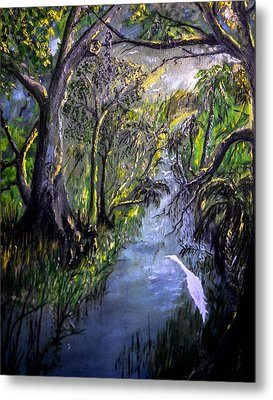 Ocala Creek Metal Print by Christy Usilton