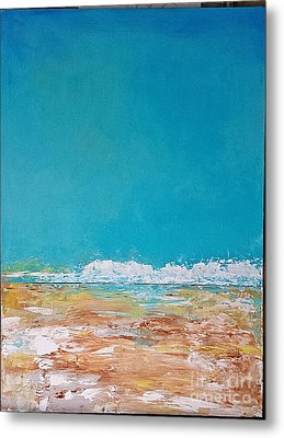 Metal Print featuring the painting Ocean 2 by Diana Bursztein