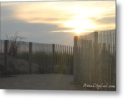 Metal Print featuring the photograph Ocean Access At Sunrise by Robert Banach