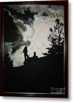 Metal Print featuring the painting Ocean And I by Stuart Engel