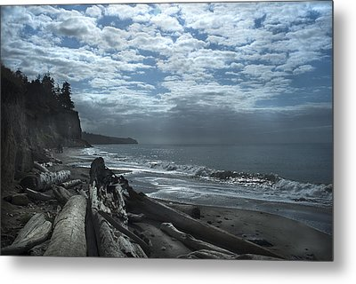 Ocean Beach Pacific Northwest Metal Print by Yulia Kazansky