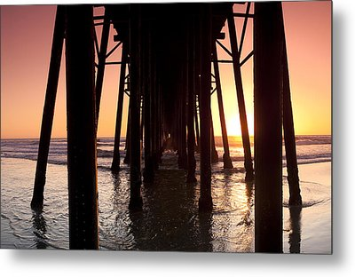 Oceanside Pier Tunnel Metal Print by Sean Davey