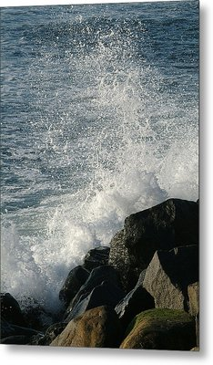 Ocean Beach Splash 1 Metal Print