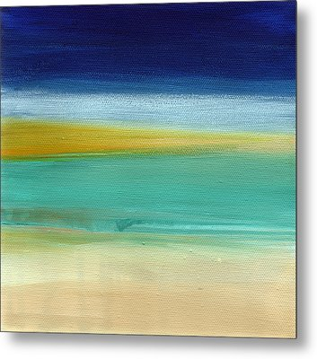 Ocean Blue 3- Art By Linda Woods Metal Print by Linda Woods