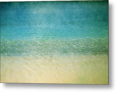 Ocean Blue Metal Print by Heather Green