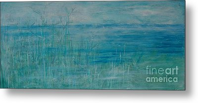 Metal Print featuring the painting Ocean Breeze by Jocelyn Friis