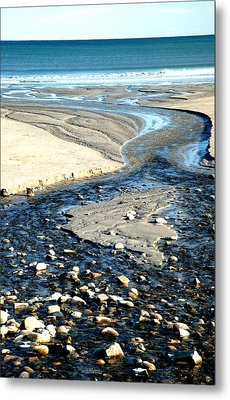 Ocean Carved Masterpiece Metal Print by Jennifer Russo