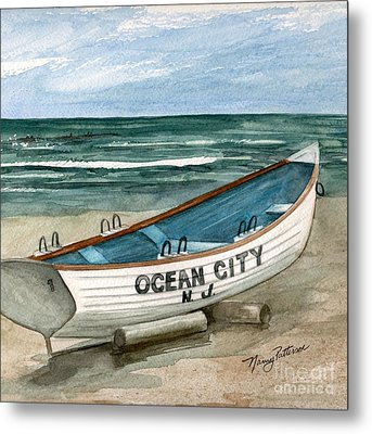 Ocean City Lifeguard Boat 2  Metal Print