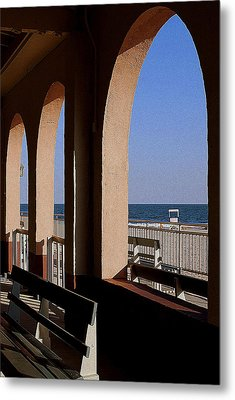 Ocean City Music Pier View Metal Print by Mary Beth Landis