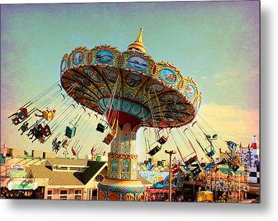 Ocean City Nj Carousel Swing Time Metal Print