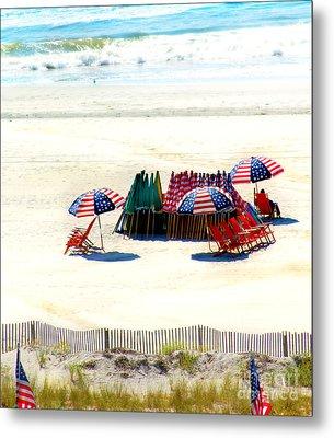 Ocean City Nj Stars And Stripes Metal Print