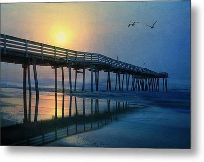 Ocean City Pier Metal Print by Lori Deiter