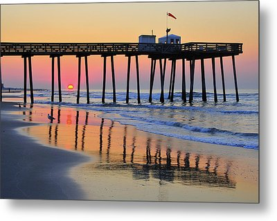 Metal Print featuring the photograph Ocean City Sunrise by Dan Myers