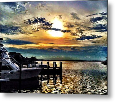 Ocean City Sunset Metal Print
