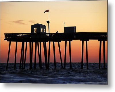 Metal Print featuring the photograph Ocean City Sunset by Dan Myers