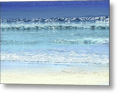 Ocean Colors Abstract Metal Print by Elena Elisseeva