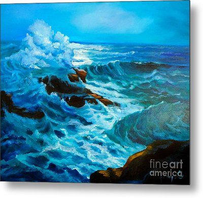 Metal Print featuring the painting Ocean Deep by Jenny Lee