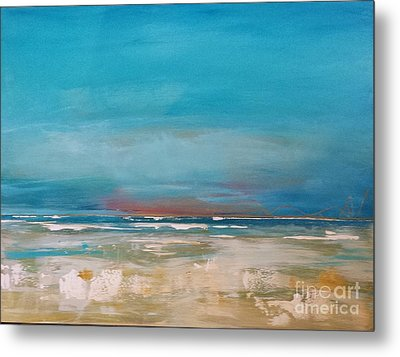 Metal Print featuring the painting Ocean by Diana Bursztein
