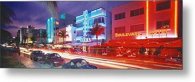 Ocean Drive, Miami Beach, Miami Metal Print