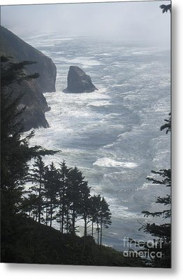 Metal Print featuring the photograph Ocean Drop by Fiona Kennard