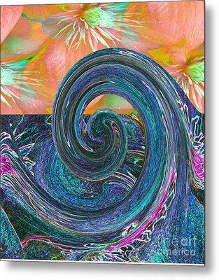 Ocean Flower Metal Print