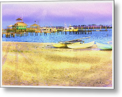 Coastal - Beach - Boats - Ocean Front Property Metal Print by Barry Jones
