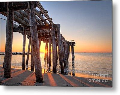 Ocean Grove Pier Sunrise Metal Print