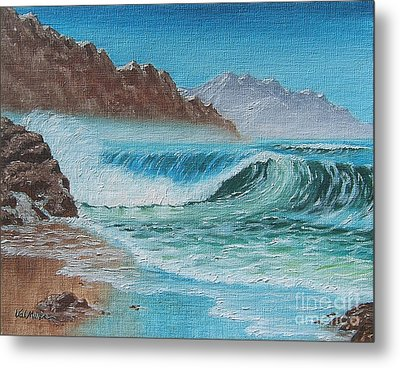 Metal Print featuring the painting Ocean Mist by Val Miller