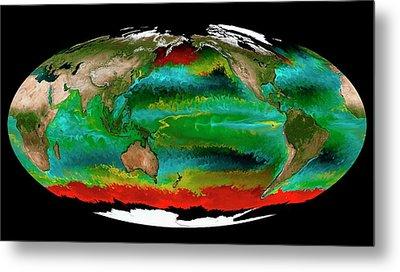 Ocean Phytoplankton Types Metal Print by Mit Darwin Project/ecco2/mitgcm/nasa
