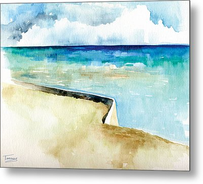 Ocean Pier In Key West Florida Metal Print