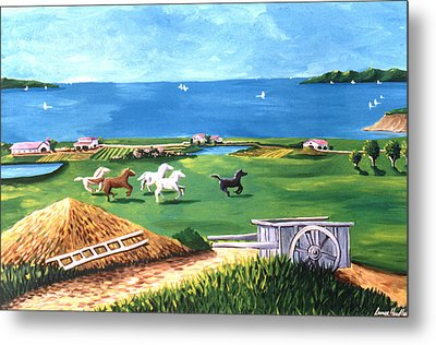 Metal Print featuring the painting Ocean Ranch by Lance Headlee