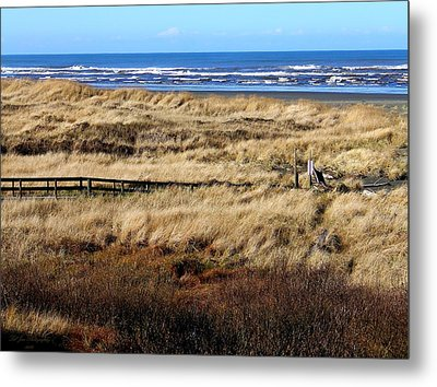 Metal Print featuring the photograph Ocean Shores Boardwalk by Jeanette C Landstrom