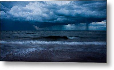 Ocean Storm Panorama Metal Print by Matt Dobson