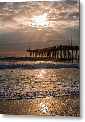 Metal Print featuring the photograph Ocean Sunrise  by Dawn Romine