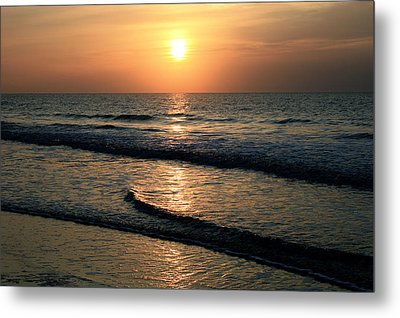 Ocean Sunrise Over Myrtle Beach Metal Print
