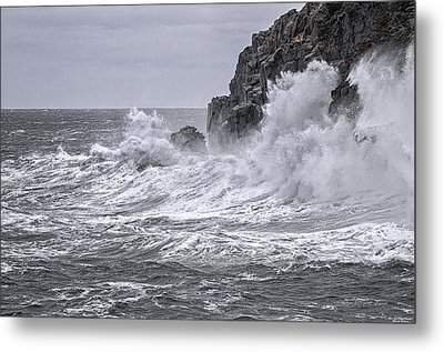 Ocean Surge At Gulliver's Metal Print by Marty Saccone
