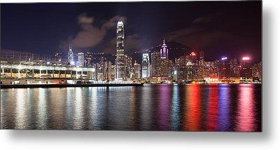 Ocean Terminal With Hong Kong City Skyline Metal Print by JPLDesigns
