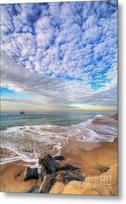 Ocean Touches The Sky Metal Print by Eddie Yerkish
