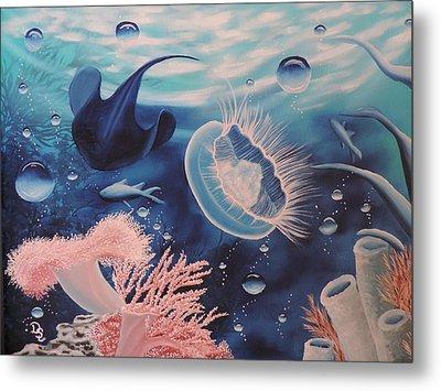 Metal Print featuring the painting Ocean Treasures by Dianna Lewis