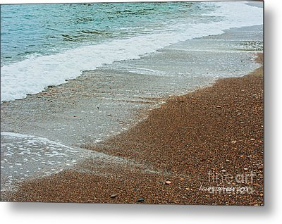 Ocean Wave Color Palette Metal Print by Artist and Photographer Laura Wrede