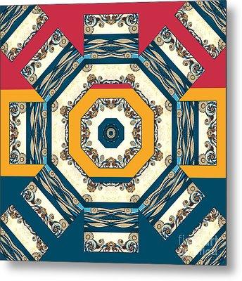 Ocean Waves Mandakal 01cm22 Metal Print by Aimelle